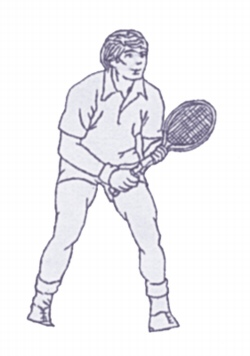 Tennis Player embroidery design