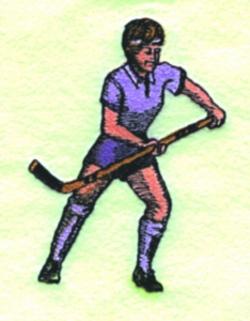 Ladies Field Hockey embroidery design