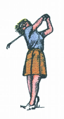 Lady Golfer embroidery design