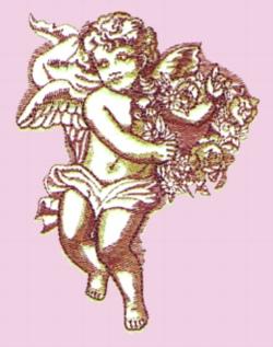 Cherub embroidery design