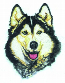 HUSKEY embroidery design