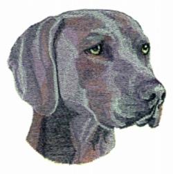 Weimaraner embroidery design