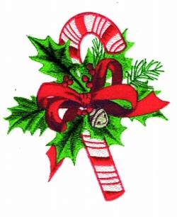 Candy Cane Applique embroidery design
