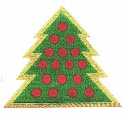 Tree Applique embroidery design