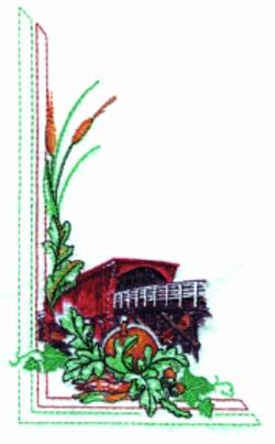 Harvest Covered Bridge embroidery design