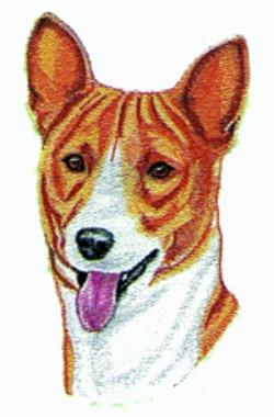 Basinji embroidery design