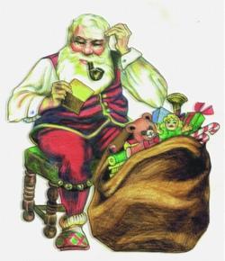 Santas Quandry embroidery design