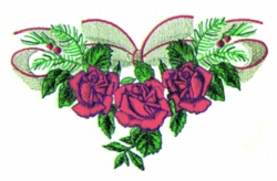 Christmas Roses embroidery design