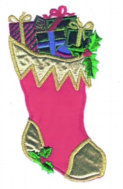 Stocking Applique embroidery design