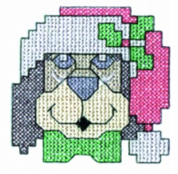 Cross Stitch Puppy embroidery design