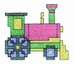 Cross Stitch Train embroidery design
