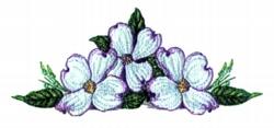Dogwood Centerpiece embroidery design