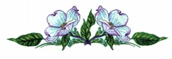 Dogwood  Blossoms embroidery design