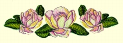 Magnolia Runner embroidery design
