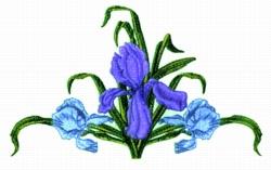 Iris Runner embroidery design