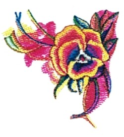 Small Pansy embroidery design