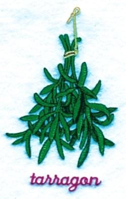 Tarragon embroidery design
