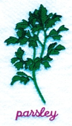 Parsley embroidery design