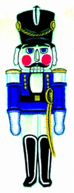 Nutcracker Applique embroidery design