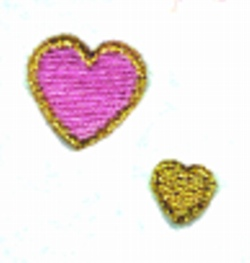 Two Hearts embroidery design