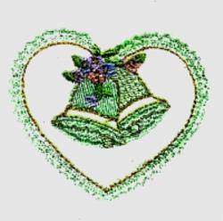 Wedding Heart embroidery design