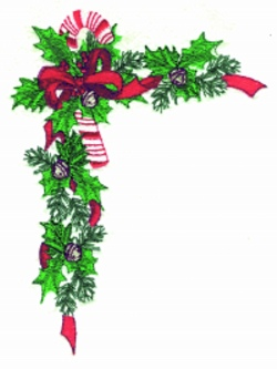 Candy Cane Border embroidery design