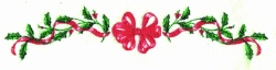 Holly Ribbon Border embroidery design