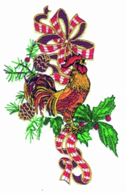 Country Christmas embroidery design
