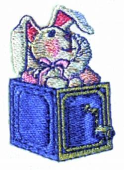 Rabbit in a Box embroidery design