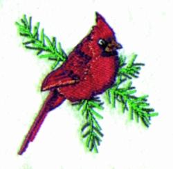 Christmas Cardinal embroidery design