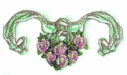 Ribbon Border embroidery design