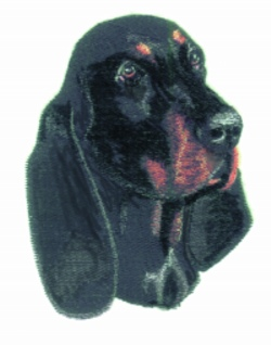 Black & Tan Coonhound embroidery design