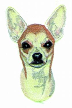 Chihauhua embroidery design