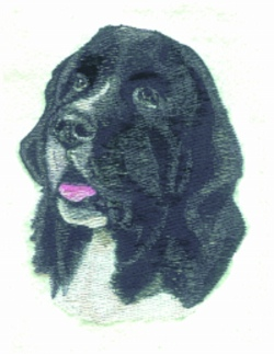 B & W Newfie embroidery design