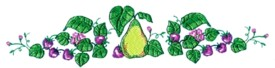 Pear & Strawberry Runner embroidery design
