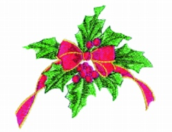 Holly & Bow embroidery design