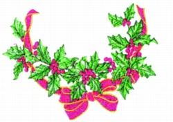 Holly Neckline embroidery design