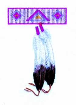 Beadwork & Feathers embroidery design