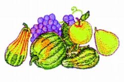 Thanksgiving Cluster embroidery design