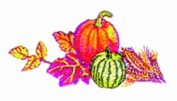Thanksgiving Endpiece embroidery design