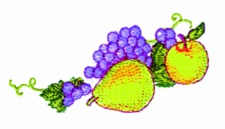 Thanksgiving Fruit embroidery design