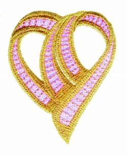 Sculptured Heart embroidery design