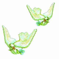Doves embroidery design