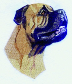 Bullmastiff embroidery design