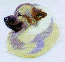 Keeshound embroidery design