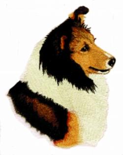 Sheltie embroidery design