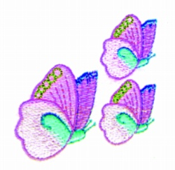 Butterflys embroidery design