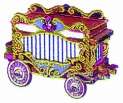 Circus Wagon embroidery design