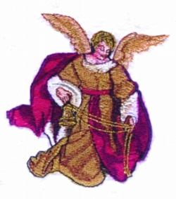 Victorian Angel embroidery design