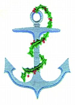 Christmas Anchor embroidery design